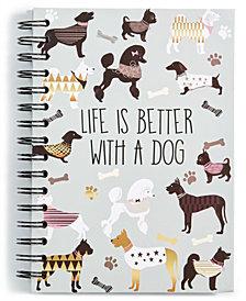 Chasing Baxter Dog Spiral Notebook