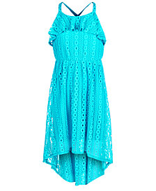 Sequin Hearts Big Girls Lace Maxi Dress