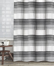"Hellen Cotton Stripe 72"" x 72"" Shower Curtain"