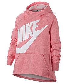 Nike Big Girls Logo-Print Pullover Hoodie