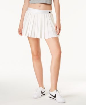 Court Dri-Fit Pleated Tennis Skort in White