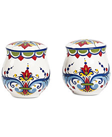 Tabletops Unlimited San Marino Italian Blue Salt & Pepper Shaker Set