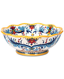 Tabletops Unlimited San Marino Italian Yellow Footed Bowl