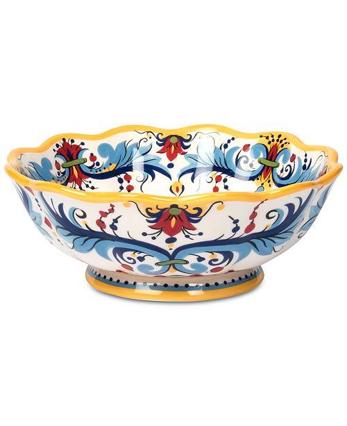 Tabletops Unlimited San Marino Italian Yellow Footed Bowl