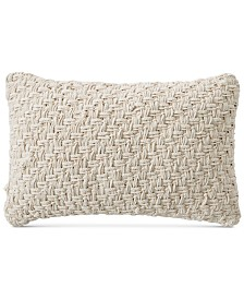 "Lucky Brand Basket Embroidered 16"" X 24"" Decorative Pillow, Created for Macy's"