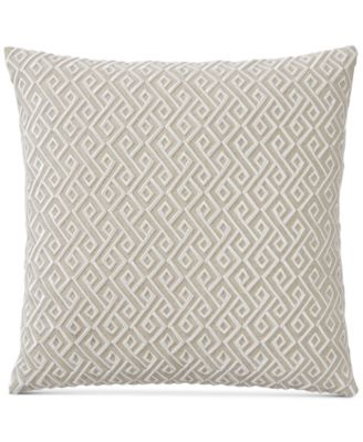 "Embroidered 20"" Square Decorative Pillow, Created for Macy's"