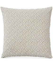 "Hotel Collection Embroidered 20"" Square Decorative Pillow, Created for Macy's"
