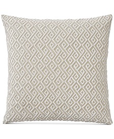 "CLOSEOUT! Hotel Collection Embroidered 20"" Square Decorative Pillow, Created for Macy's"