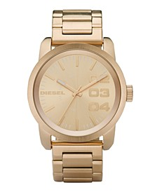 Watch, Gold Ion Plated Stainless Steel Bracelet 54x46mm DZ1466