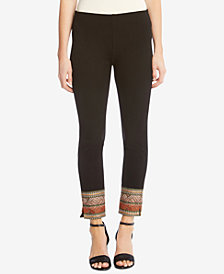 Karen Kane Embroidered-Hem Skinny Pants