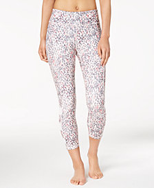 Gaiam Whitney Printed Mesh-Inset Capri Yoga Leggings