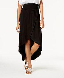 BCX Juniors' Tulip-Hem High-Low Maxi Skirt