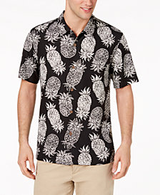 Tommy Bahama Men's Piña Piñata Pineapple-Print Silk Camp Shirt