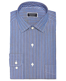 Club Room Men's Classic/Regular Fit Stretch Wrinkle-Resistant Pinpoint Stripe Dress Shirt, Created for Macy's