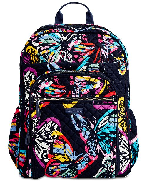 7e7f6885669b Vera Bradley Iconic Campus Backpack - Handbags   Accessories - Macy s
