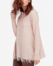 Free People Broken Glass Textured Fringe Tunic