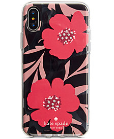 kate spade new york Jeweled Poppy Field iPhone 8/8 Plus/X Case