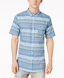 Ezekiel Men's Cowabunga Yarn-Dyed Plaid Pocket Shirt