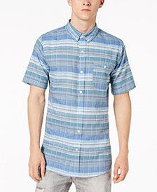 Ezekiel Men's Cowabunga Yarn-Dyed Plaid Pocket Shirt