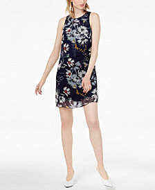 Maison Jules Layered Floral-Print Short Shift Dress, Created for Macy's