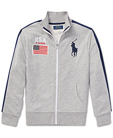 Polo Ralph Lauren Cotton French Terry Track Jacket, Big Boys