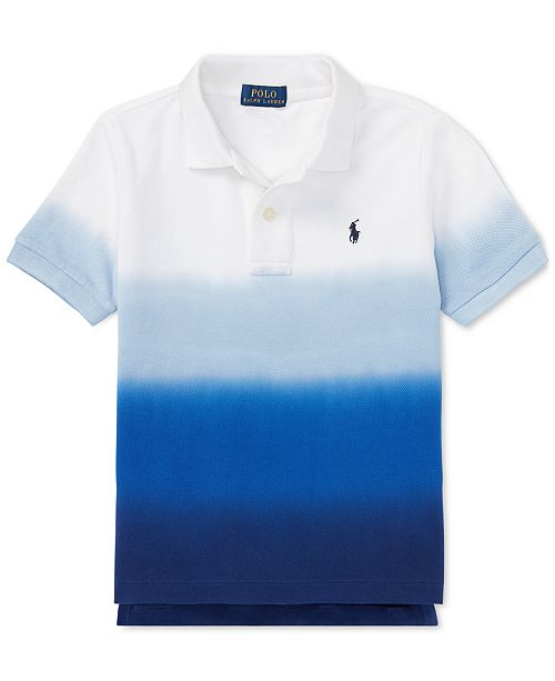e1380f1a ... Polo Ralph Lauren Little Boys Dip-Dyed Cotton Mesh Polo Shirt ...