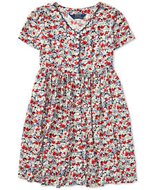Polo Ralph Lauren Big Girls Floral Button-Front Dress