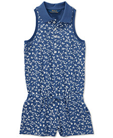 Polo Ralph Lauren Toddler Girls Floral Stretch Mesh Romper
