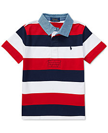 Polo Ralph Lauren Toddler Boys Striped Cotton Rugby Shirt