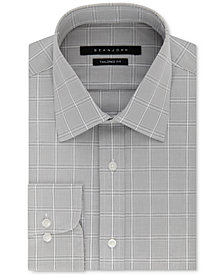 Sean John Men's Classic/Regular Fit Gray Check Dress Shirt