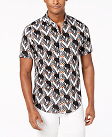 I.N.C. Men's Elephant Print Shirt, Created for Macy's