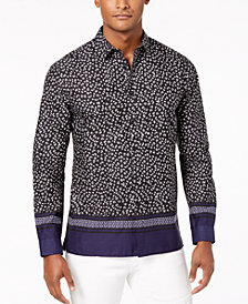 I.N.C. Men's Multi-Print Shirt, Created for Macy's
