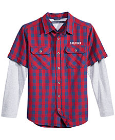 Tommy Hilfiger Big Boys Ace Plaid Cotton Shirt