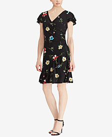 Lauren Ralph Lauren Floral-Print Ruched Jersey Dress