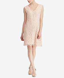 Lauren Ralph Lauren Scalloped-Lace Dress