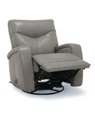 Erith Leather Swivel Pushback Recliner