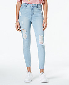 Celebrity Pink Juniors' High Rise Skinny Ankle Jeans