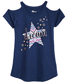 Epic Threads Big Girls Cold Shoulder T-Shirt, Created for Macy's
