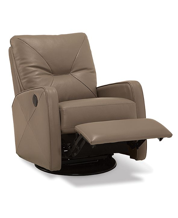 Furniture Finchley Leather Power Swivel Glider Recliner