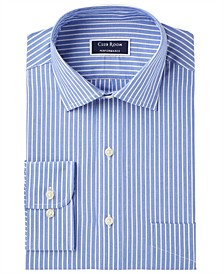Men's Slim-Fit Performance Wrinkle-Resistant Striped Dress Shirt, Created for Macy's