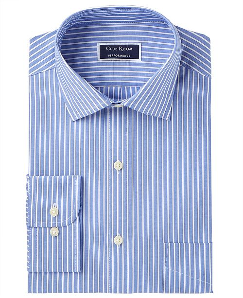 409c8ae07ad ... Club Room Men's Slim-Fit Performance Wrinkle-Resistant Striped Dress  Shirt