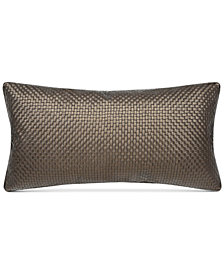 "Charisma Emporio Faux-Leather 14"" x 28"" Decorative Pillow"