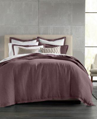 Linen Full/Queen Duvet Cover, Created for Macy's