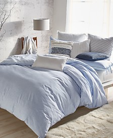 DKNY Pure Eco Cotton 200-Thread Count Reversible Chambray King Duvet Cover