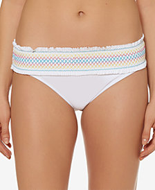 Bleu by Rod Beattie Stitched-Band Bikini Bottoms