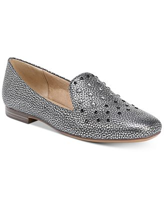 Naturalizer Emiline 4 Studded Metallic Loafers