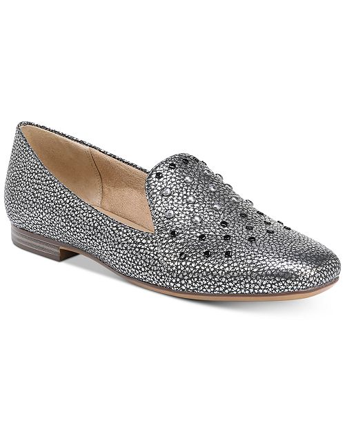 Naturalizer Emiline 4 Studded Metallic Loafers 6IX6M1uO4