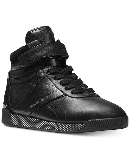4259917e77 Michael Kors Women's Addie High-Top Lace-Up Sneakers & Reviews ...
