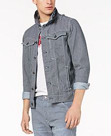 G-Star RAW Men's Striped Stretch Denim Jacket, Created for Macy's
