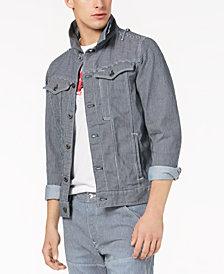 G-Star RAW Men's Striped Stretch Denim Jacket, Created for Macy's